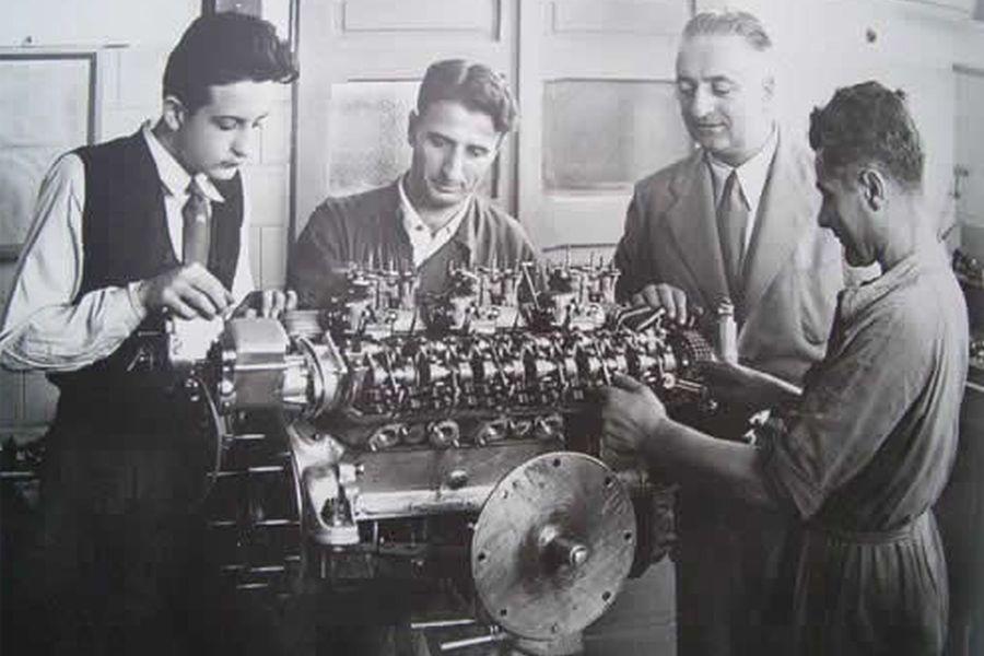 Dino and Enzo Ferrari