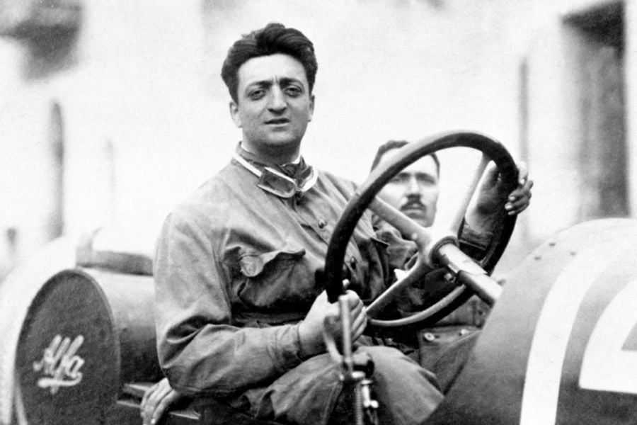Enzo Ferrari racing driver
