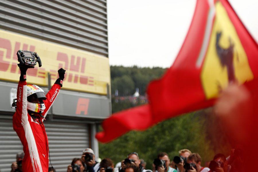 Sebastian Vettel wins the Belgian Grand Prix