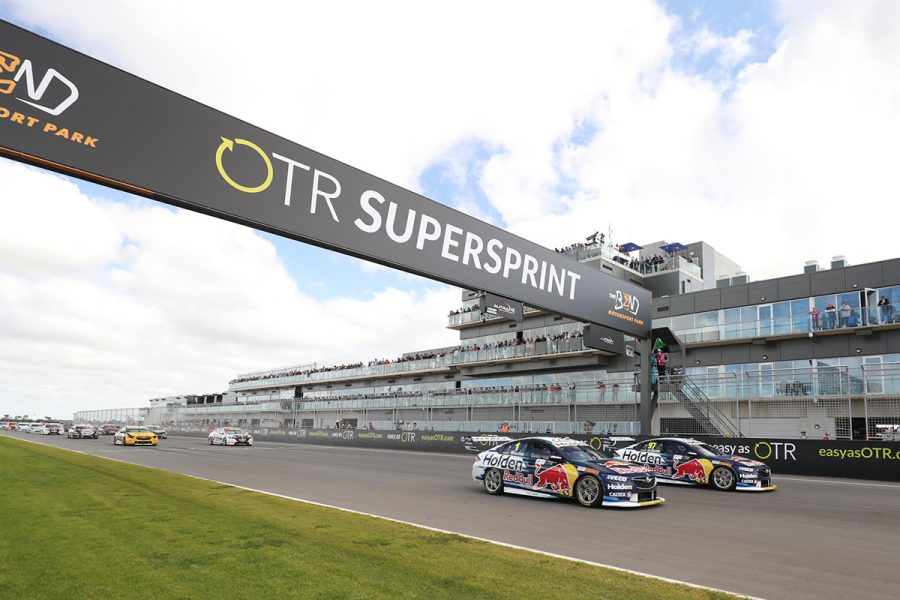 Jamie Whincup (#1) has won the race, Shane van Gisbergen (#97) is a championship leader