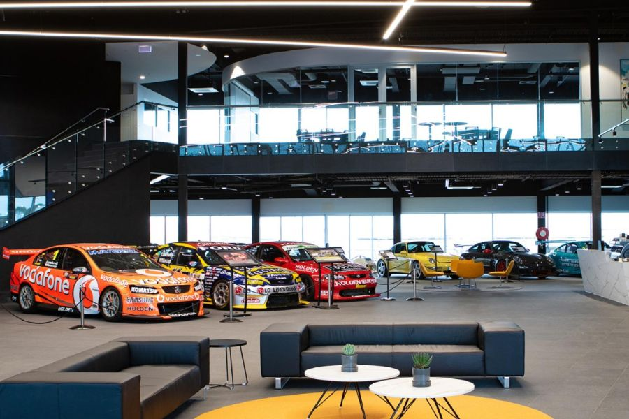 The Bend Motorsport Park, the interior of the Rydges Pit Lane hotel
