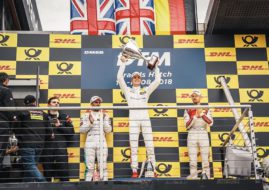 DTM Brands Hatch Race 2 podium