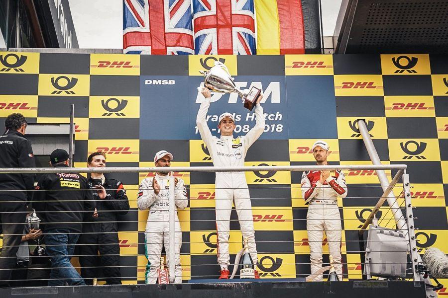 DTM Brands Hatch Race 2 podium