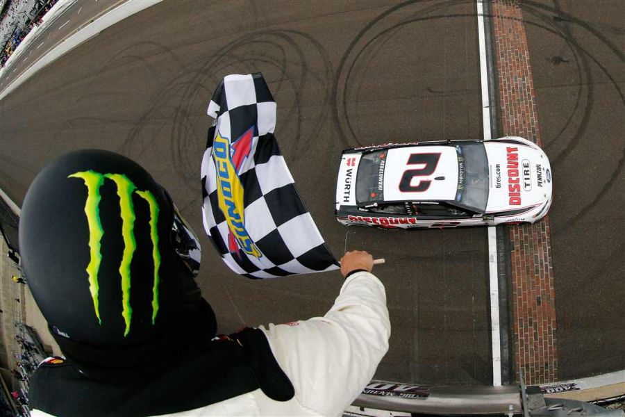 Brad Keselowski wins the Brickyard 400