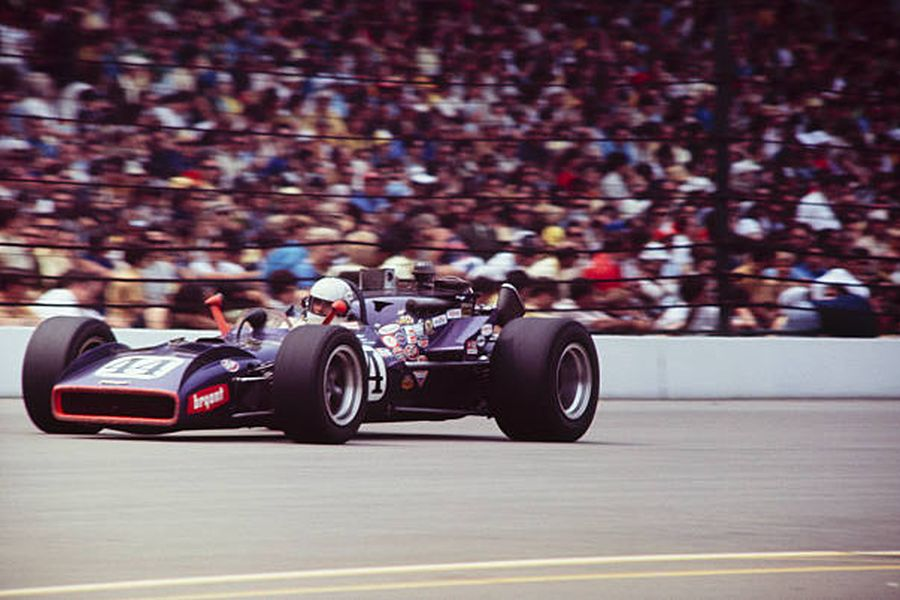 Dick Simon at 1970 Indianapolis 500 in the #44 Vollstedt-Ford