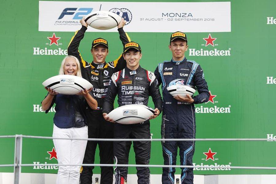 Formula 2 Monza, Feature Race podium