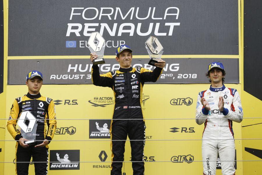 Formula Renault Eurocup, Hungaroring, race 2 podium