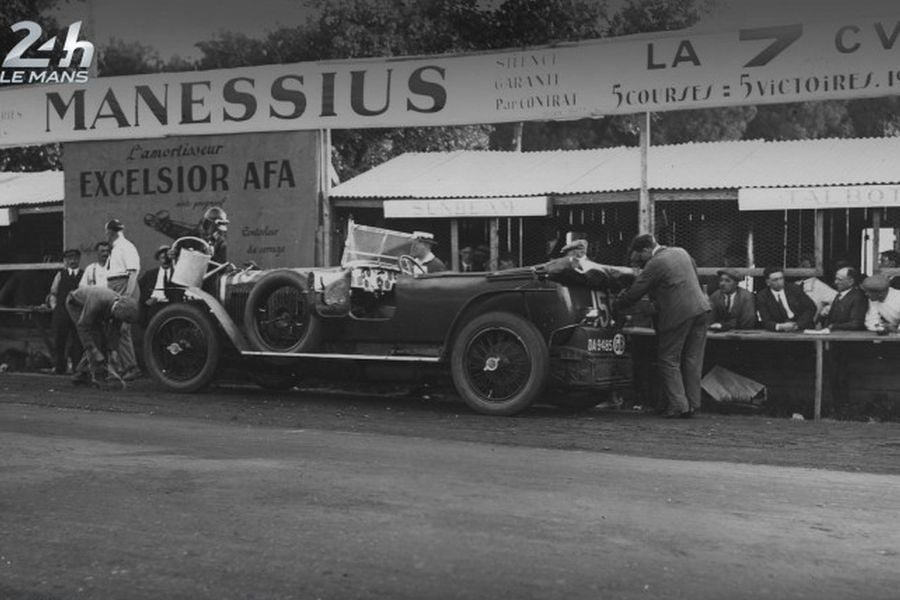 Henry Segrave's #15 Sunbeam at 1925 Le Mans 24 Hours