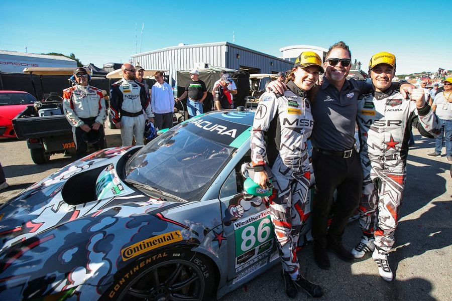 Katherine Legge and Alaro Parente are GTD class winners at Laguna Seca