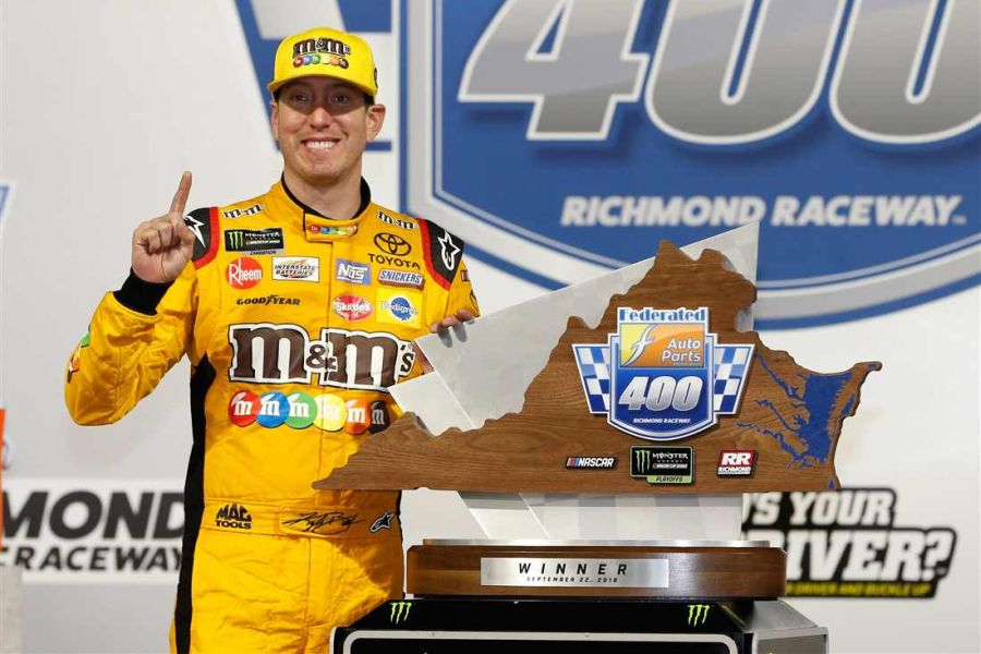 Kyle Busch celebrated his 50th Cup Series win at Richmond