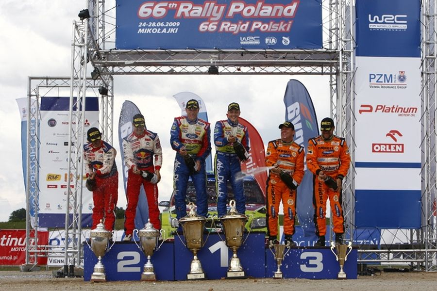 2009 Rally Poland podium