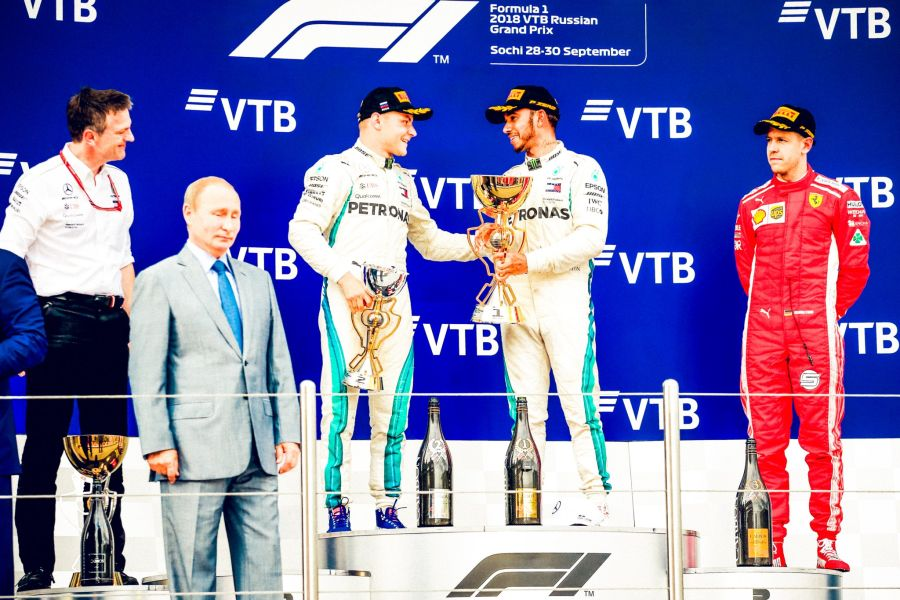 2018 Russian Grand Prix podium