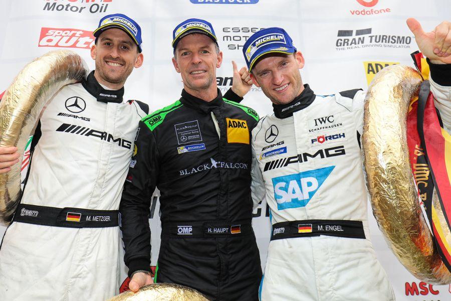 VLN round 7, Black Falcon Mercedes, Manuel Metzger, Hubert Haupt, Maro Engel