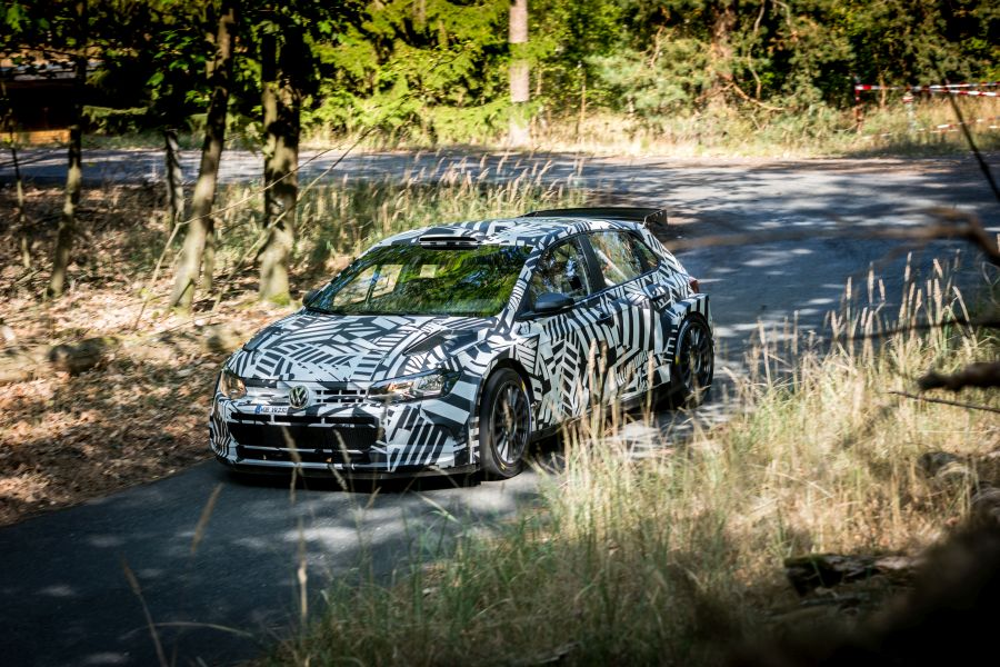 Volkswagen Polo GTI R5 during a test