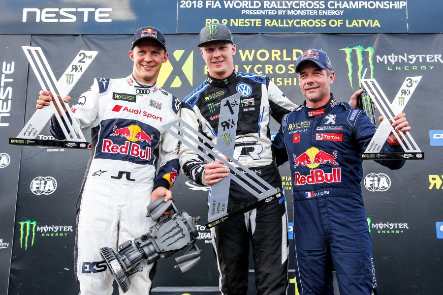 World RX Latvia podium