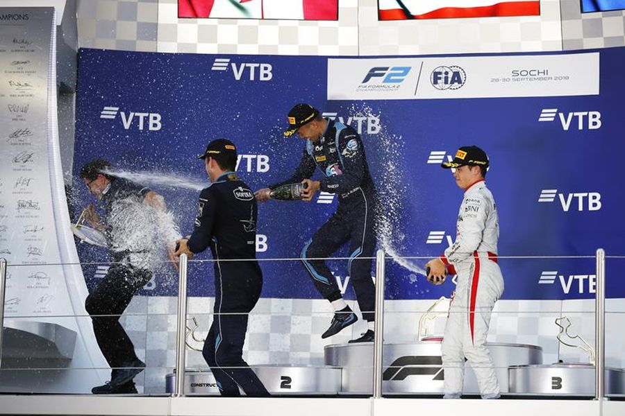 Formula 2 Sochi race 1 podium