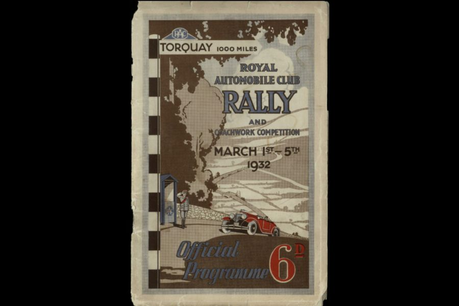 The cover of the 1932 RAC Rally programme