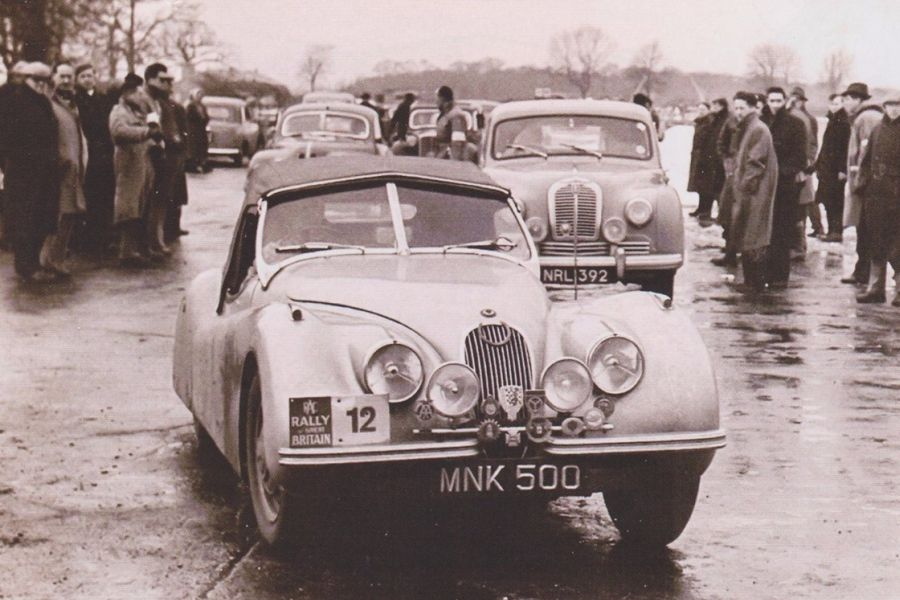 A picture from the 1951 RAC Rally