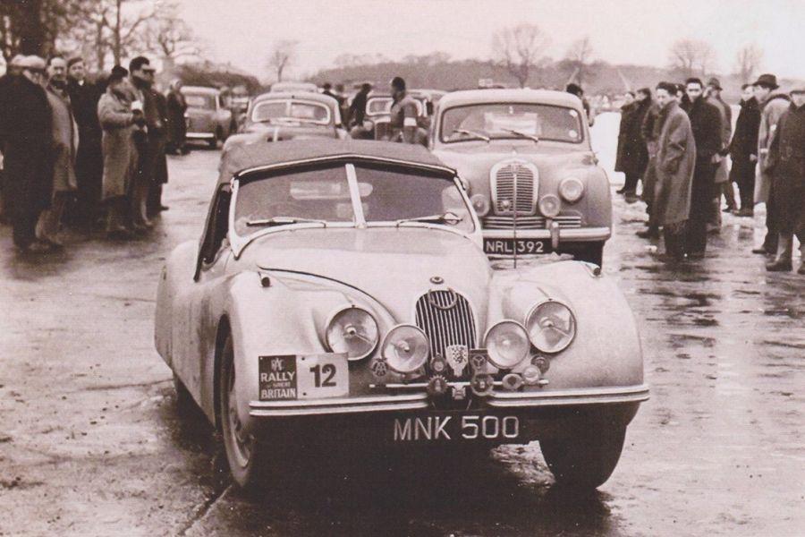 RAC Rally, 1951, sepia
