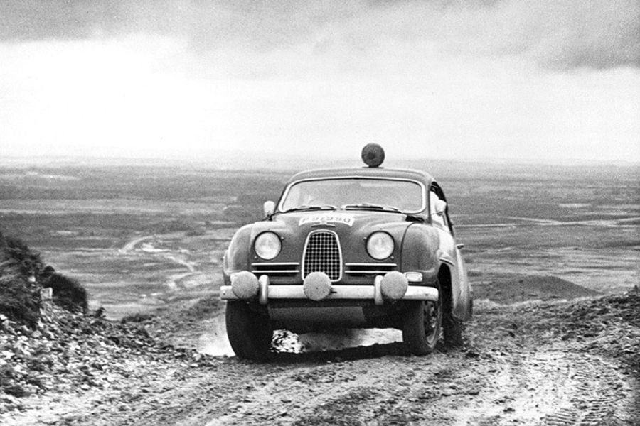 Erik Carlsson's Saab at 1962 RAC Rally