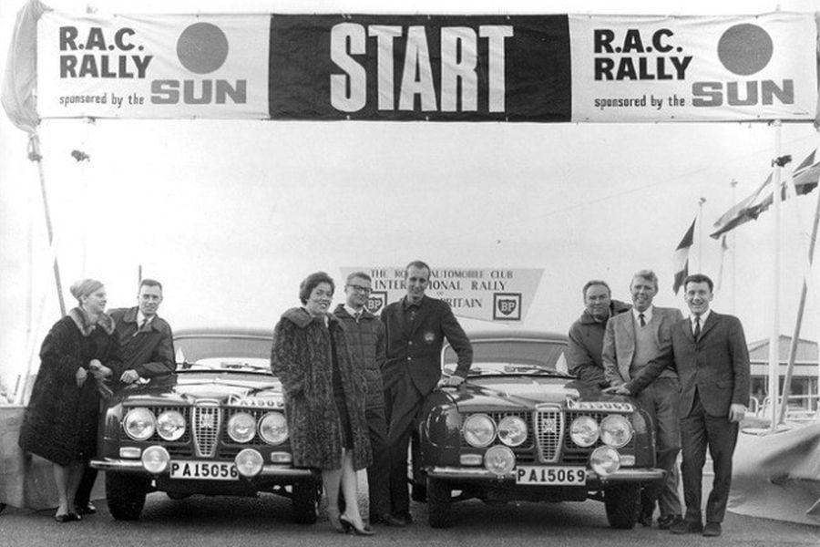 1966 RAC Rally Saab Team