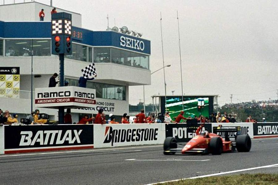 Gerhard Berger (Ferrari) triumphed at 1987 Japanese Grand Prix