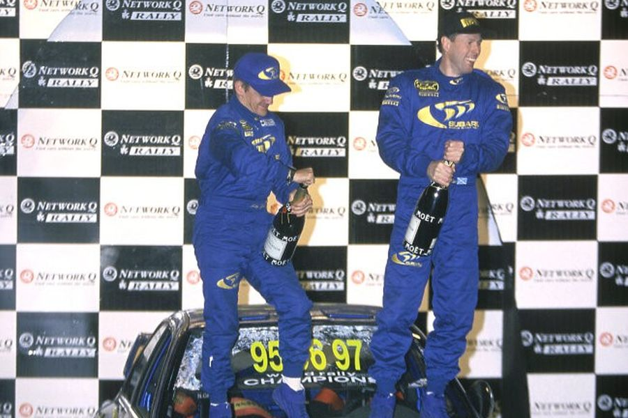 Colin McRae and Nicky Grist an 1997 Network Q RAC Rally