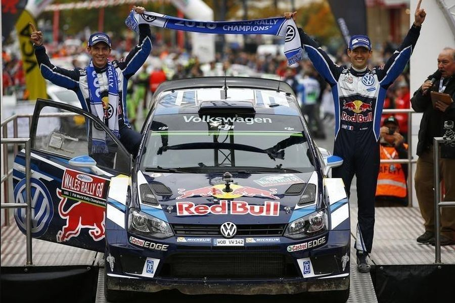 Julien Ingrassia and Sebastien Ogier are celebrating their fourth win in Wales in 2016
