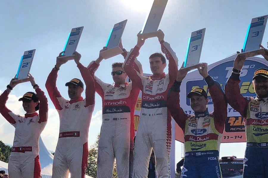 2018 Rallylegend podium