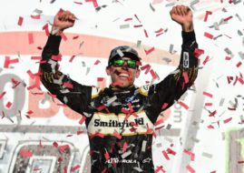 Aric Almirola wins at Talladega