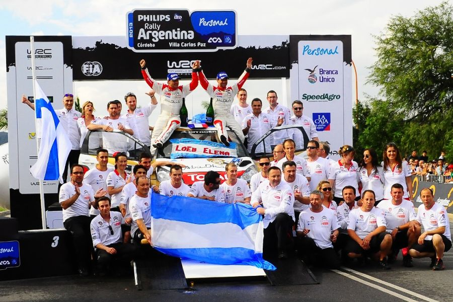 Daniel Elena and Sebastien Loeb are celebrating their 78th WRC victory at 2013 Rally Argentina