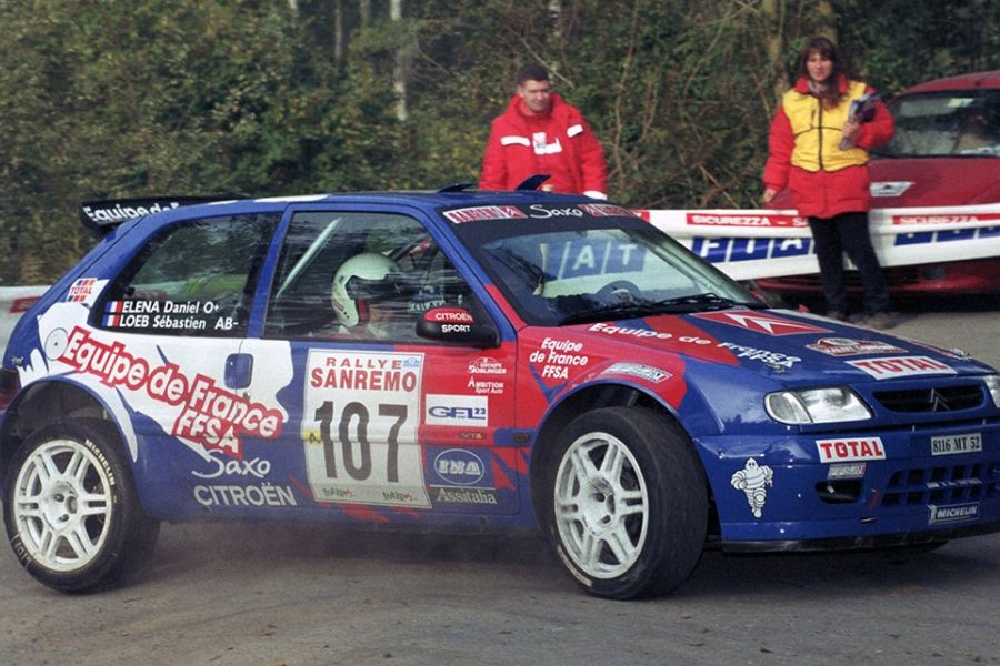 Sebastien Loeb Daniel Elena Citroen Saxo Kit Car 2000 Rallye Sanremo