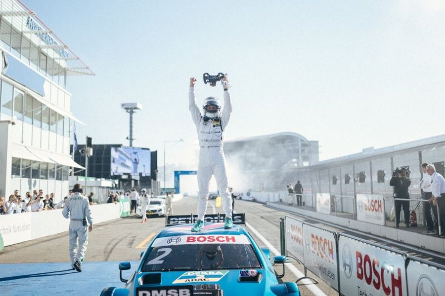 Gary Paffett is celebrating his second DTM title