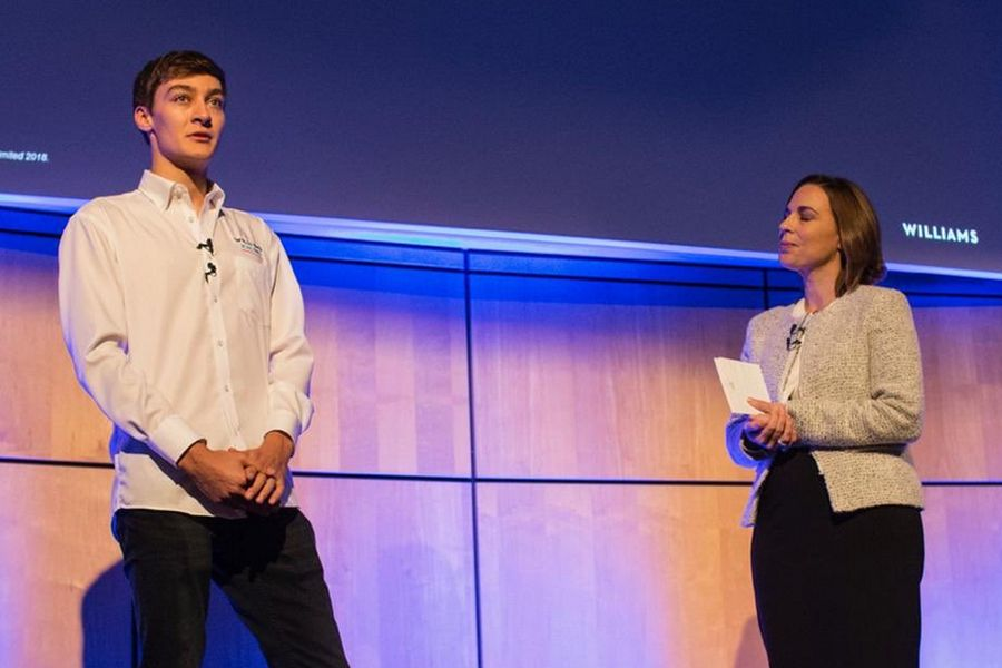 George Russell and Claire Williams