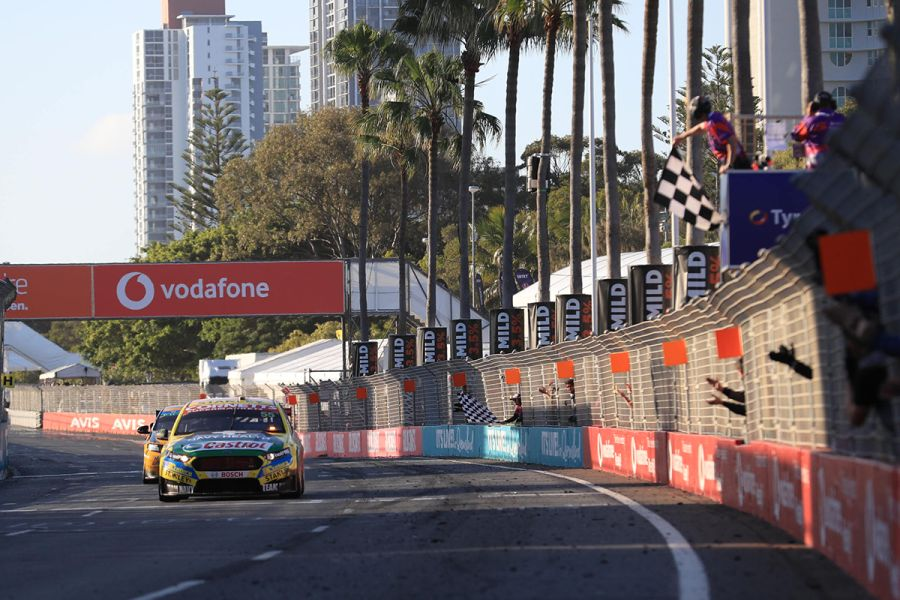 The first win of the season for Tickford Racing