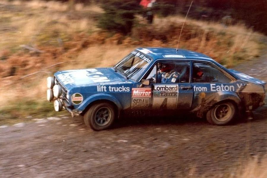 Hannu Mikkola at 1979 Lombard RAC Rally in a Ford Ecort RS1800 MkII