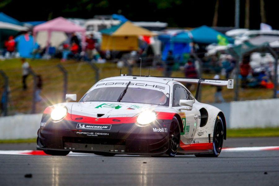The #92 Porsche RSR of Michael Christensen and Kevin Estre