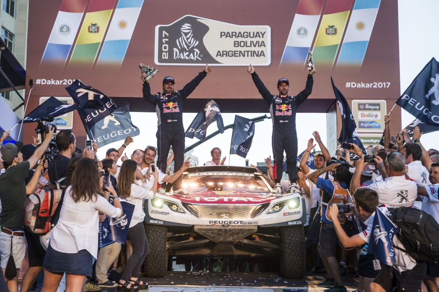 Sebastien Loeb finished second at 2017 Dakar Rally