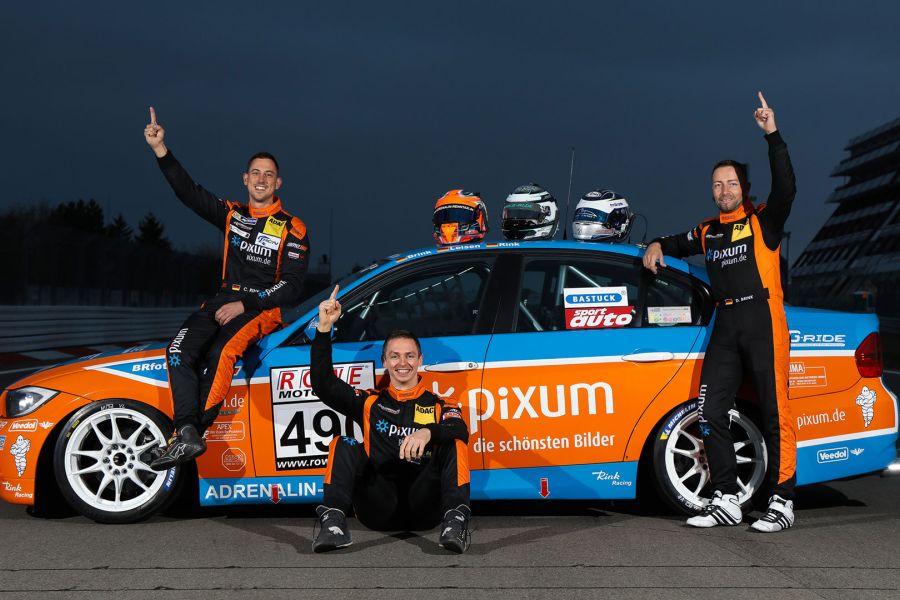 VLN champions Christopher Rink, Danny Brink, Phillipp Leisen