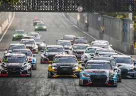69 VERNAY Jean-Karl, (fra), Audi RS3 LMS TCR team Audi Sport Leopard Lukoil, action start race 1 during the 2018 FIA WTCR World Touring Car cup of China, at Wuhan from october 5 to 7 - Photo Jean Michel Le Meur / DPPI