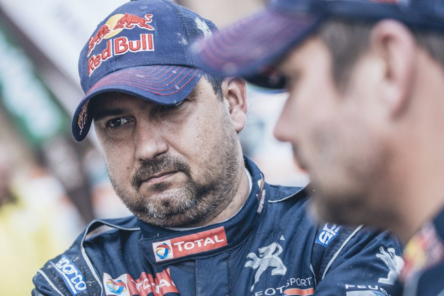 Daniel Elena contested three times at Dakar Rally with Peugeot