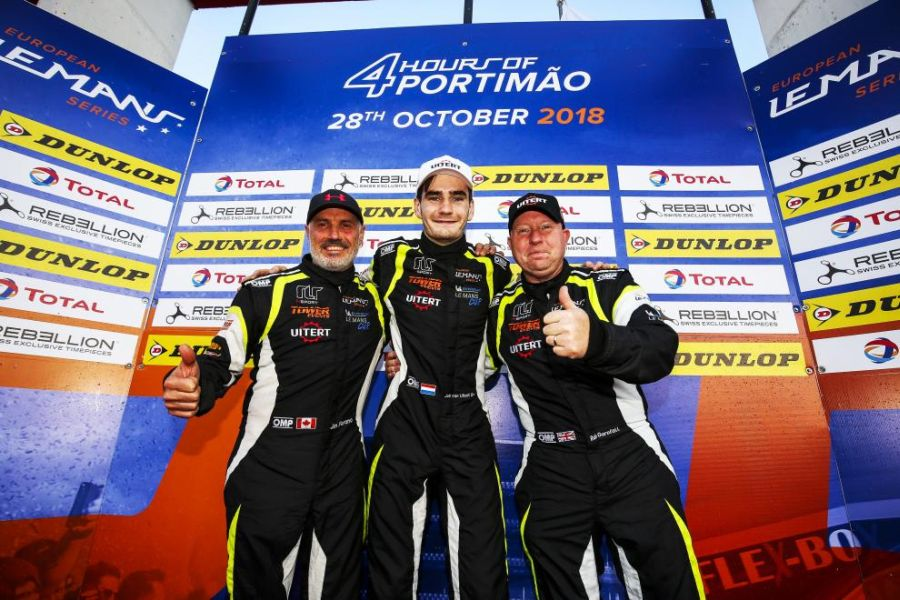 LMP3 champions John Farano, Job van Uitert and Rob Garofall