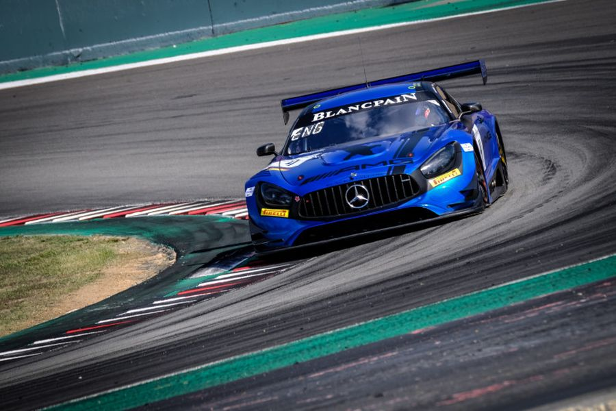 The #4 Mercedes-AMG GT3 of Black Falcon