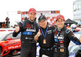 Jenson Button, Kunimitsu Takahashi, Naoki Yamamoto, 2018 Super GT Series champions