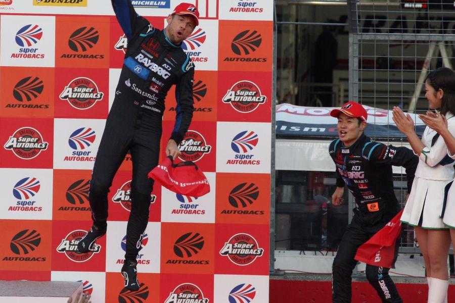 Jenson Button, Naoki Yamamoto, 2018 Super GT Series champions
