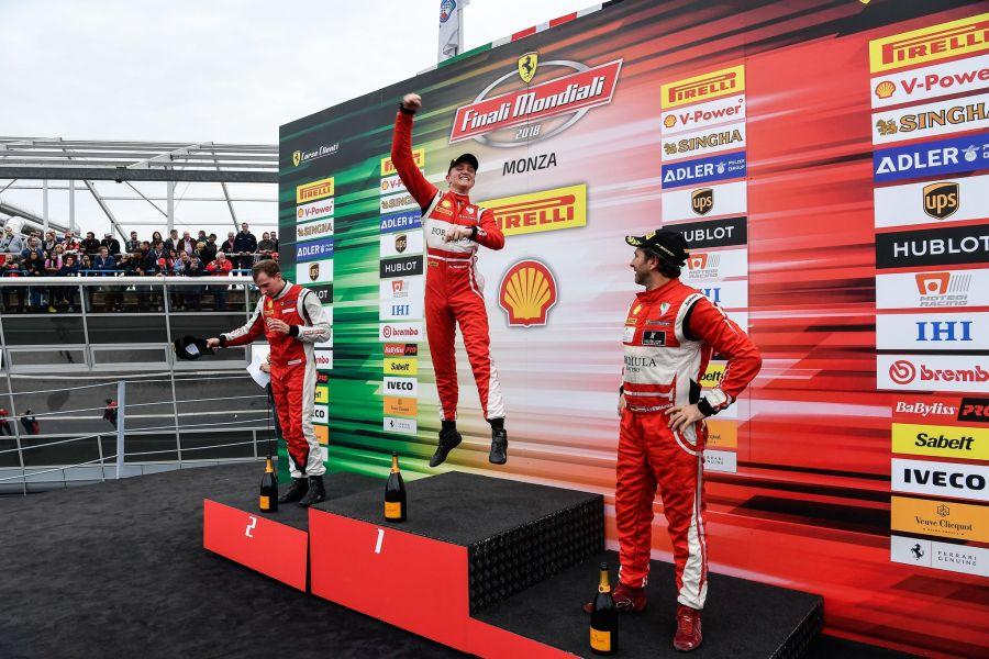 Ferrari Finali Mondiali Monza podium