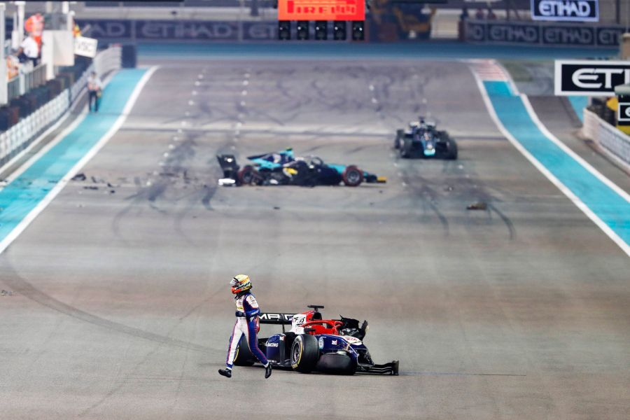 Formula 2 Abu Dhabi crash