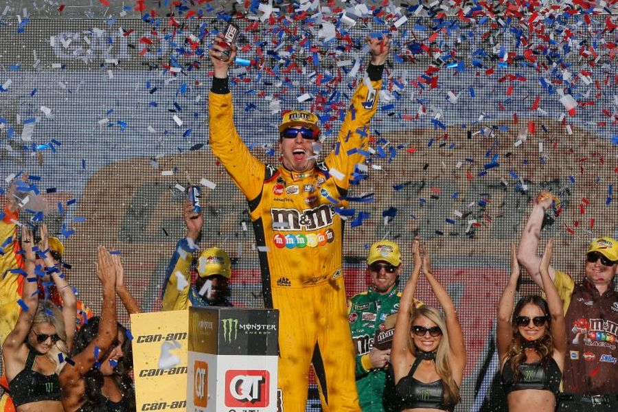 Eighth win of the season for Kyle Busch