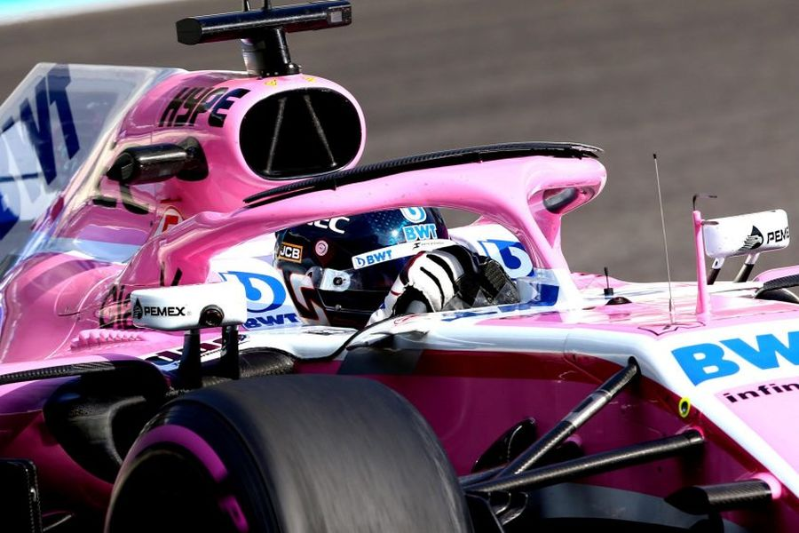Lance Stroll Racing Point Force India test