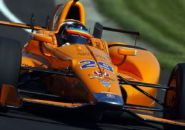 Fernando Alonso at 2017 Indianapolis 500